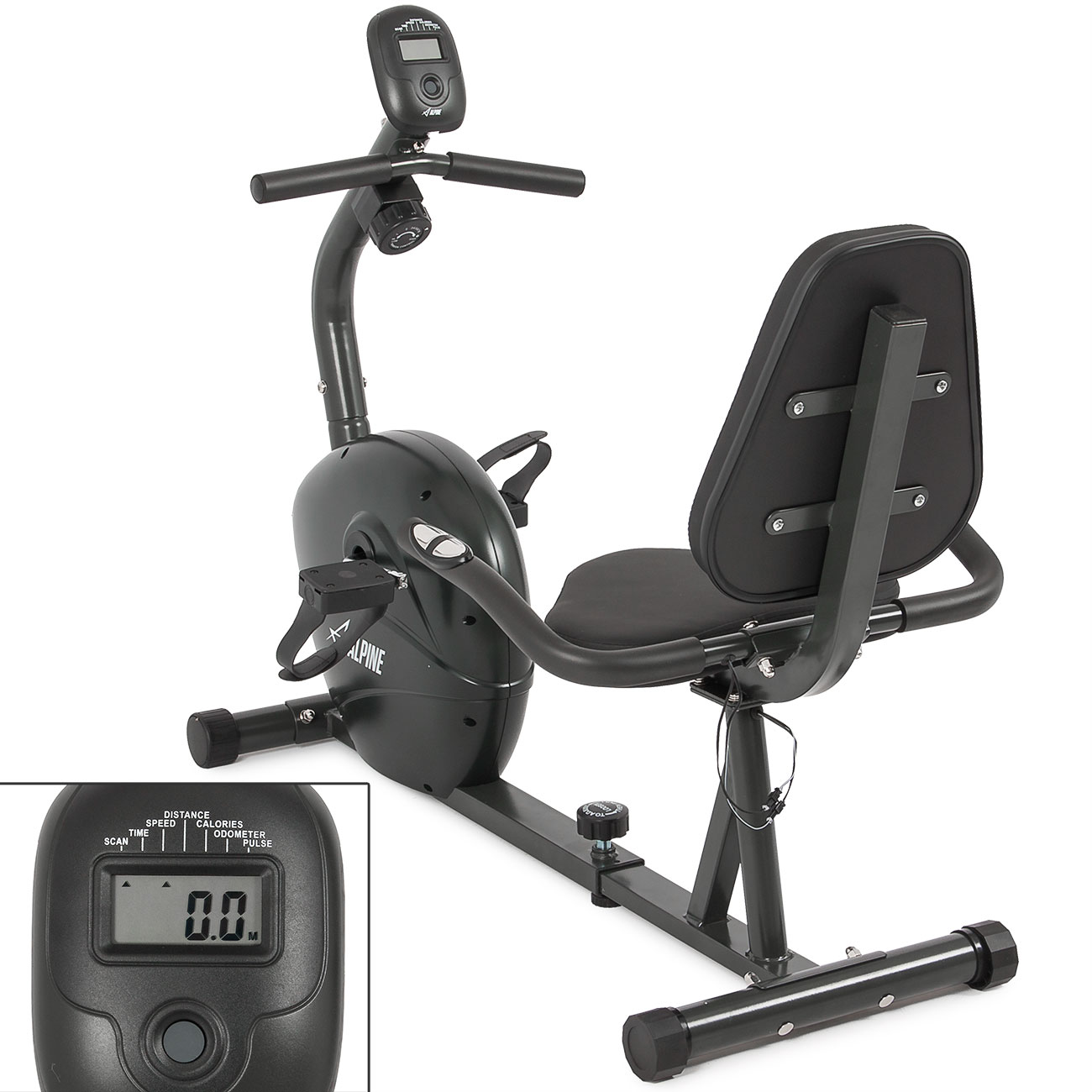 Recumbent cycle cardio exercise fitness stationary gym