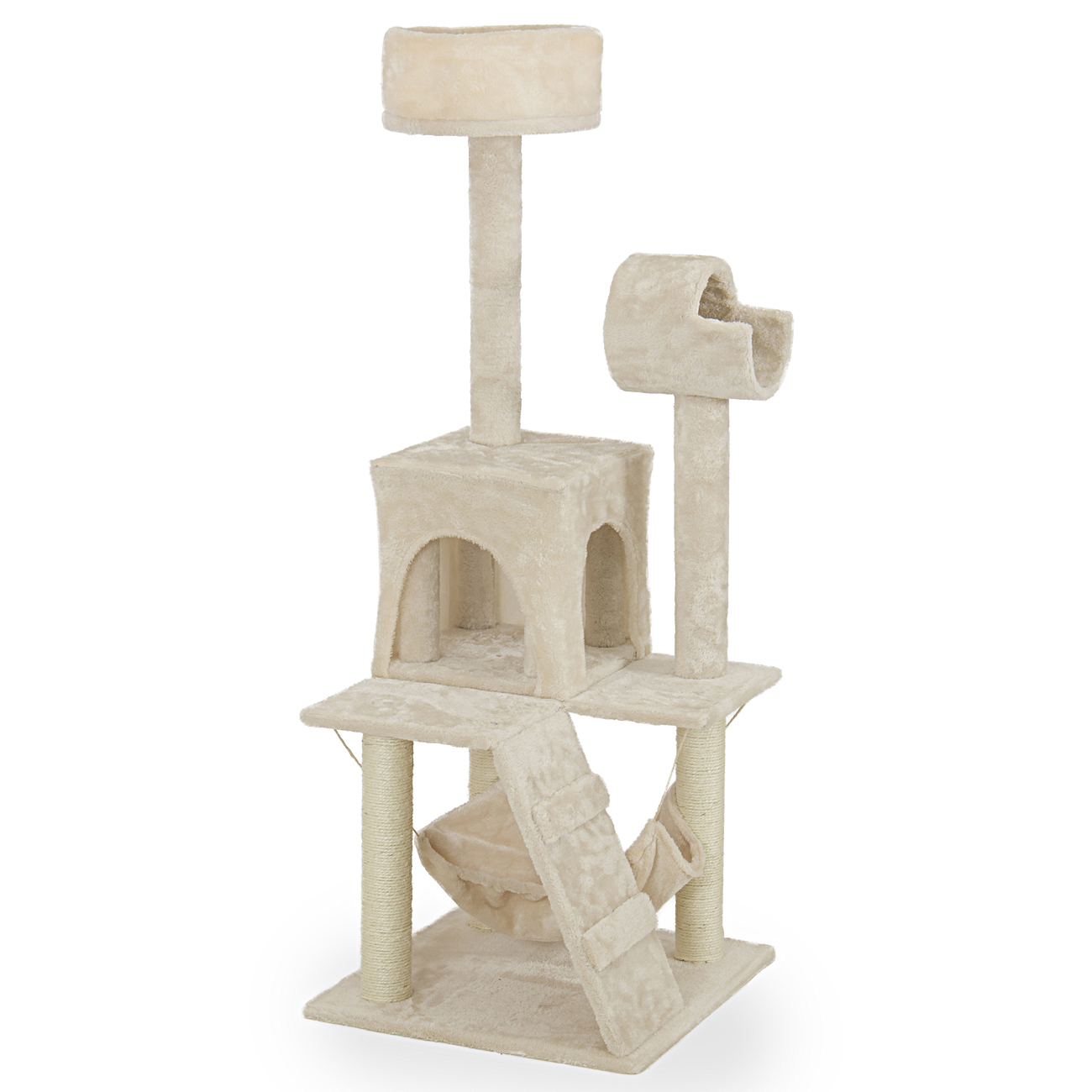 new 52 cat tree tower condo furniture scratch post kitty. Black Bedroom Furniture Sets. Home Design Ideas