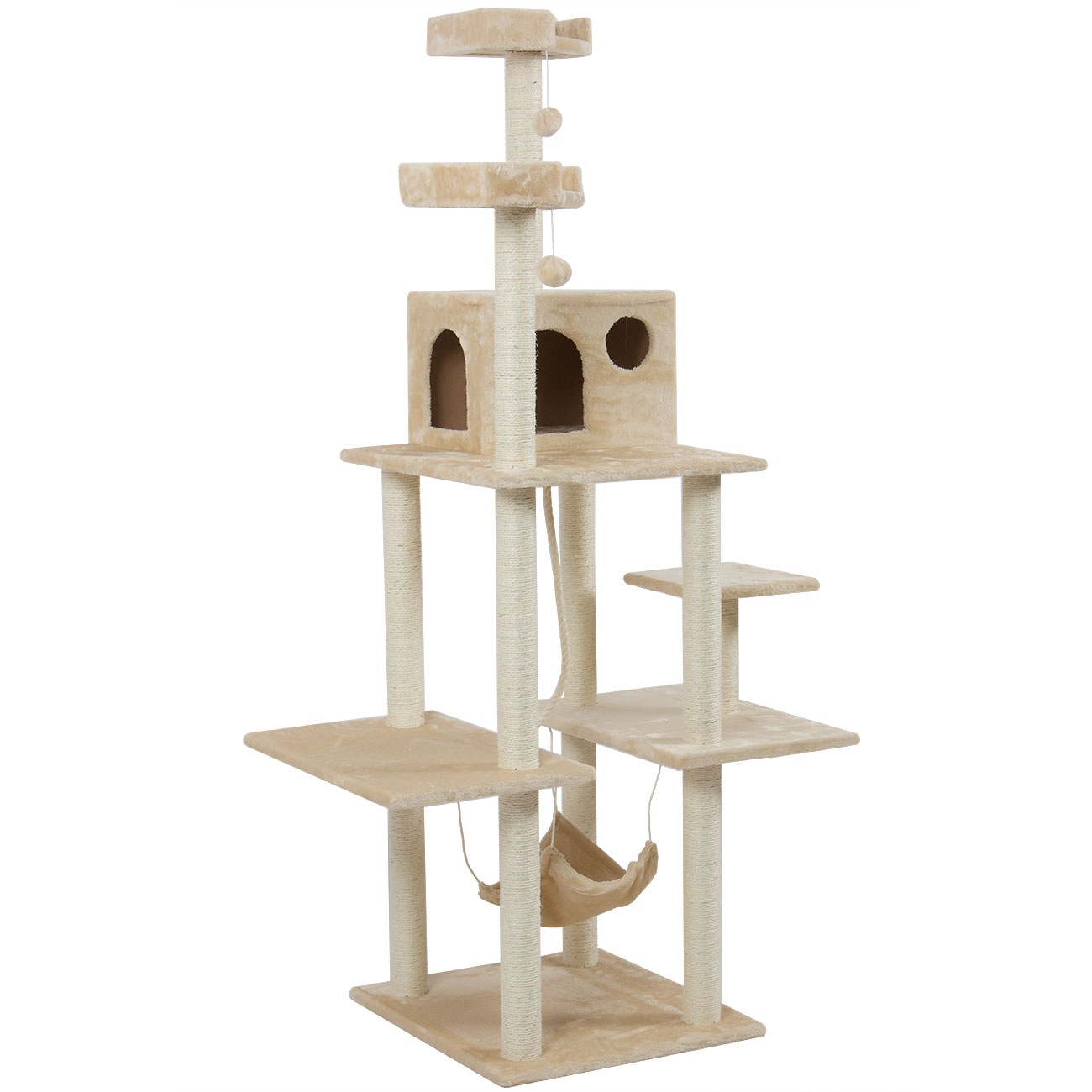 72 cat tree play house tower condo furniture scratch post. Black Bedroom Furniture Sets. Home Design Ideas