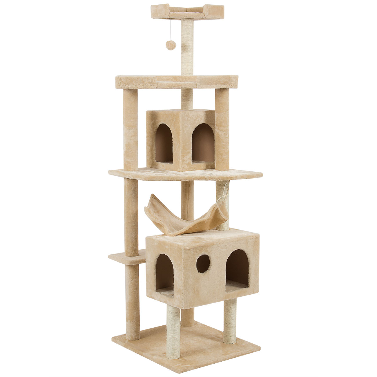 New 71 cat tree tower condo furniture scratch post house for Cat tower with hammock