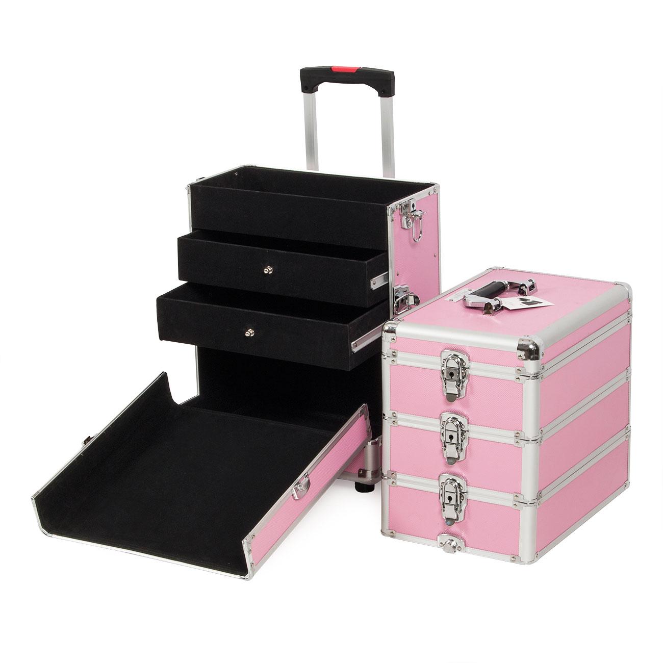Makeup organizer on wheels