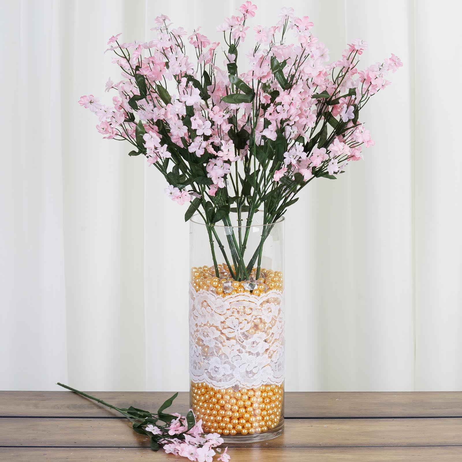 Quot tall bushes baby breath silk filler flowers for