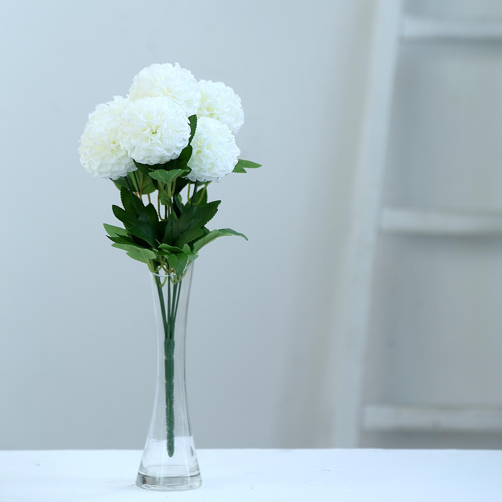 28 pcs 16-Inch tall Chrysanthemum Mums Silk Artificial Flowers Centerpieces Sale