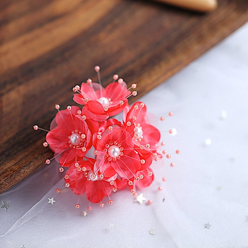 72 beaded flowers with faux pearls crafts supplies for Pearl arts and crafts closing