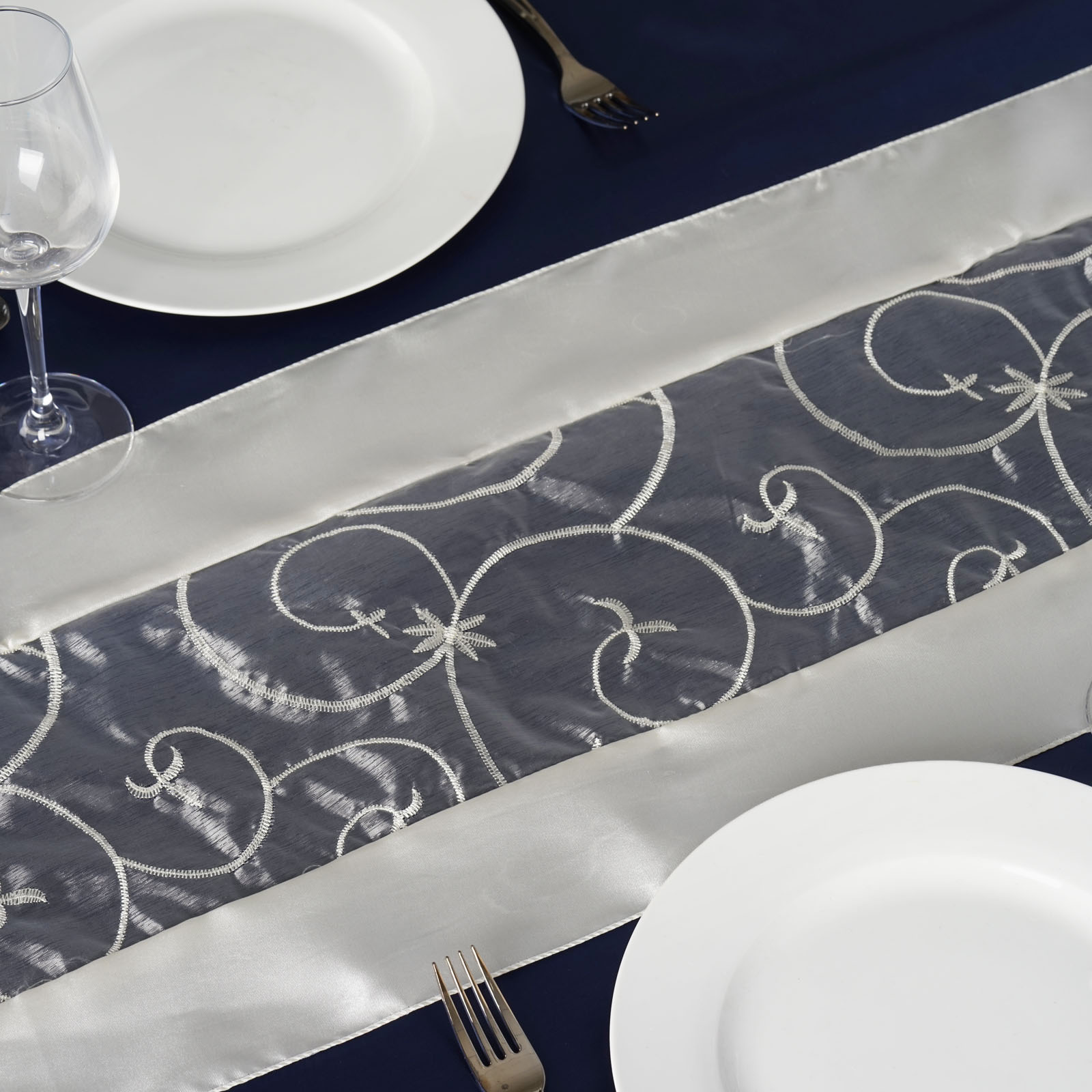 14 x 108 embroidered table runners wedding party dinner for 108 table runner