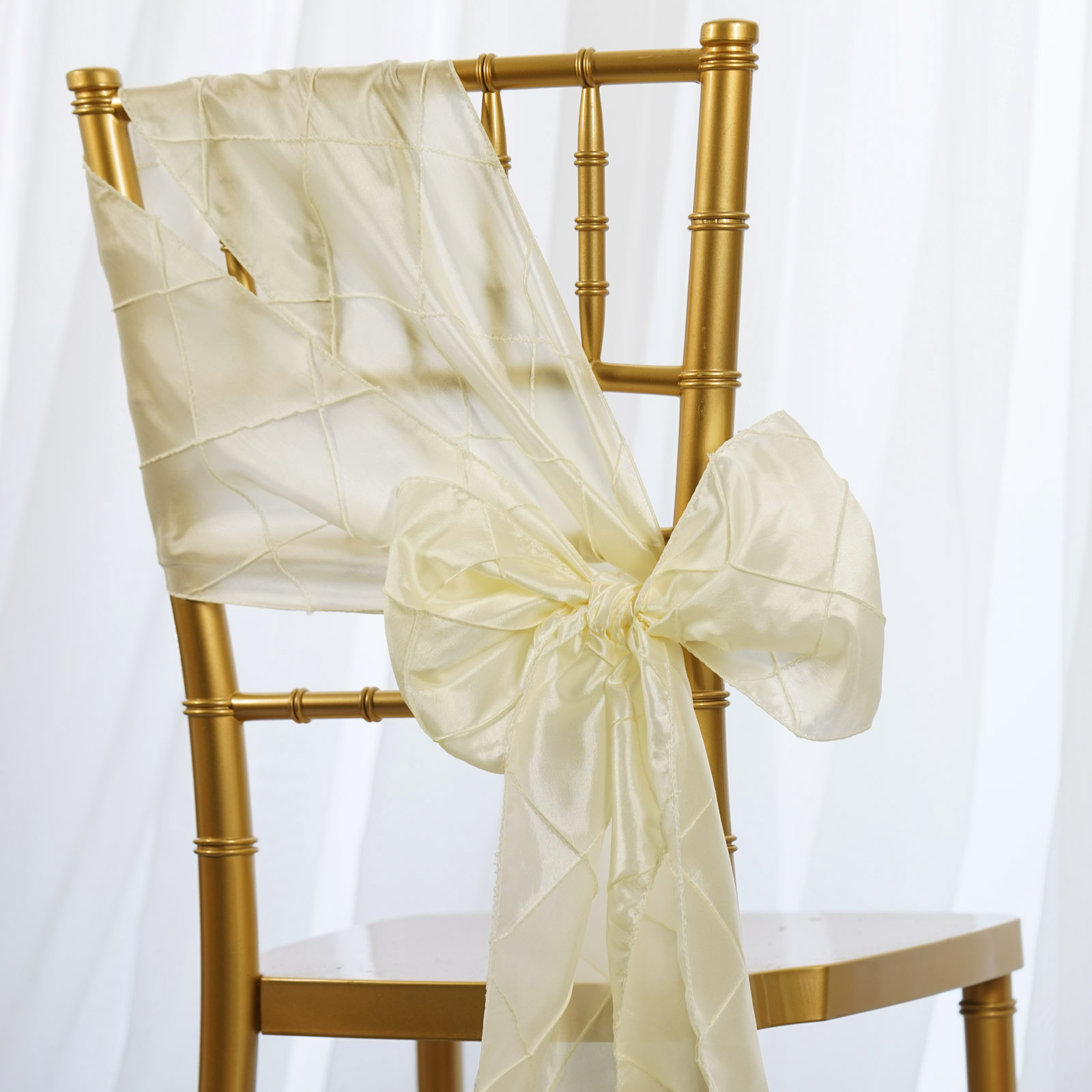 Pintuck CHAIR SASHES Bows Ties Banquet Wedding Reception Decorations Wholesale
