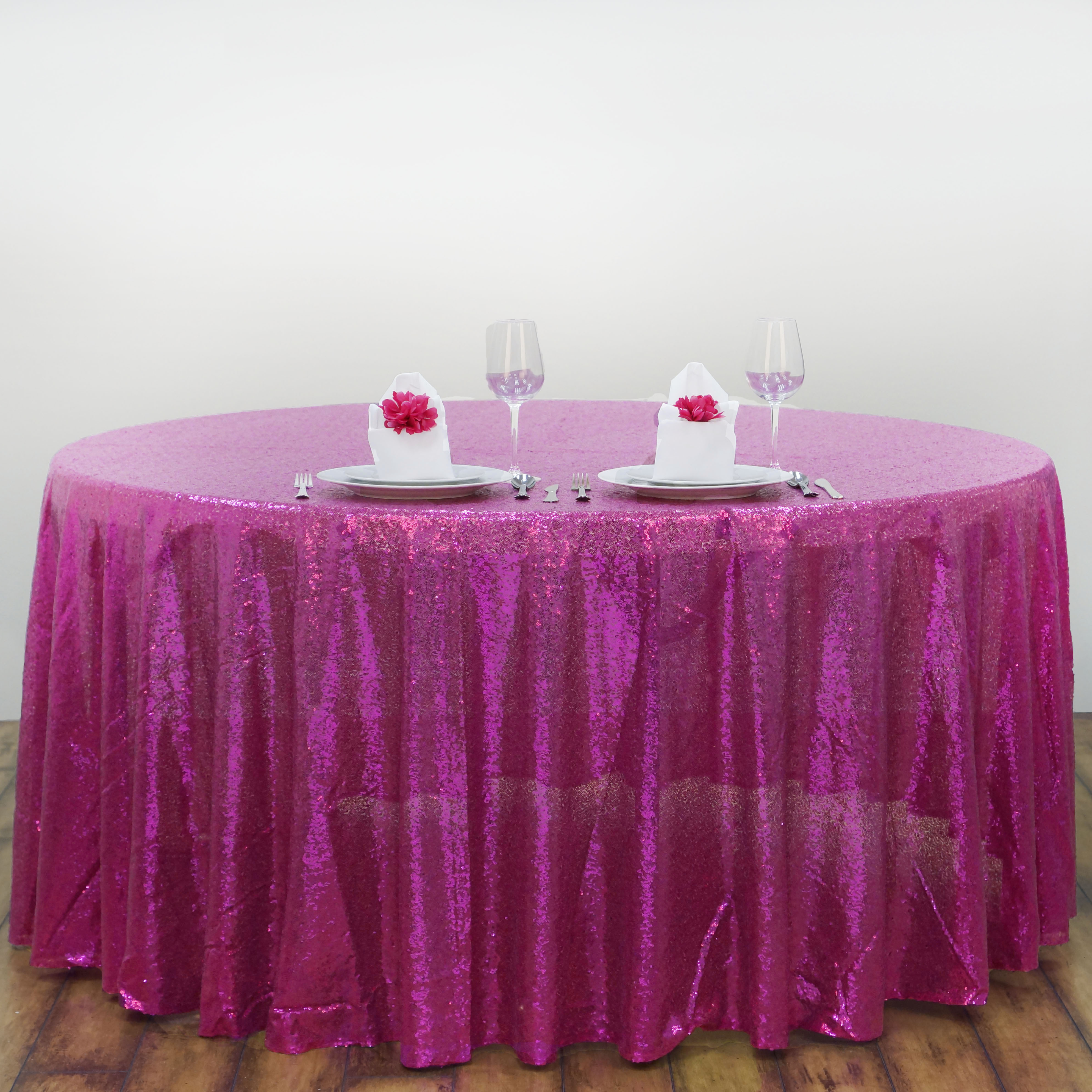 Sequin ROUND Tablecloth Dinner Wedding Linens Party ...