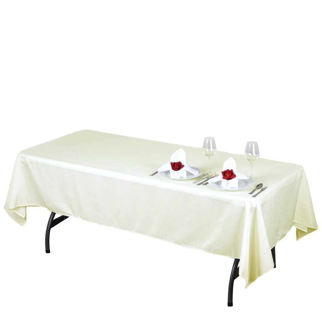 RECTANGULAR Polyester Tablecloths Restaurant Catering Home Wedding Cheap Party