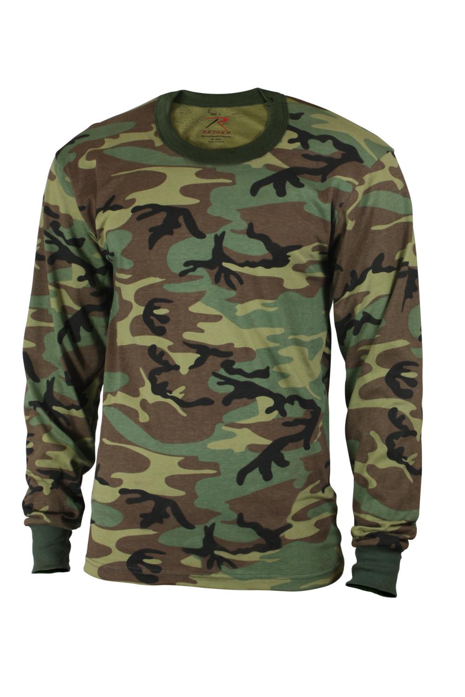 Rothco Boys Woodland Long Sleeve Camo Shirt