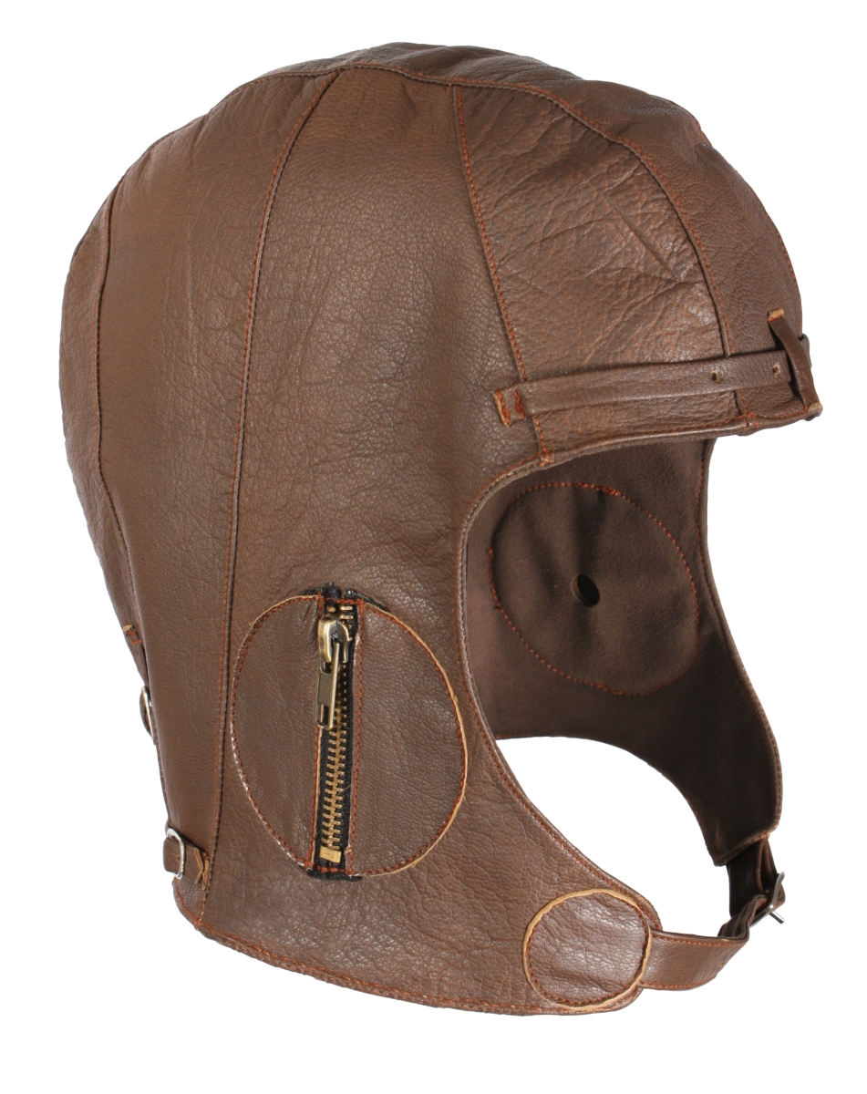 Rothco WW2 Style Leather Pilot's Helmet in Goatskin Leather