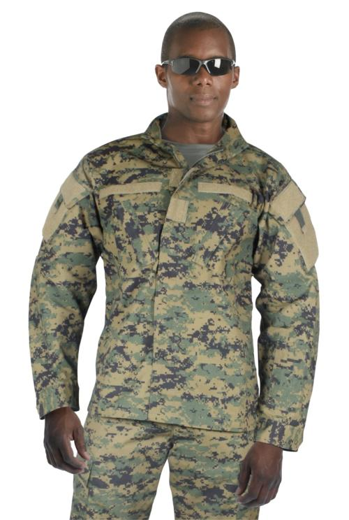... about ACU Style Woodland Digital Camo Military Uniform Shirt, MARPAT