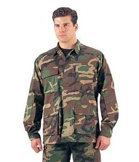 Woodland-Camo-BDU-Jackets-Military-Uniform-Shirt
