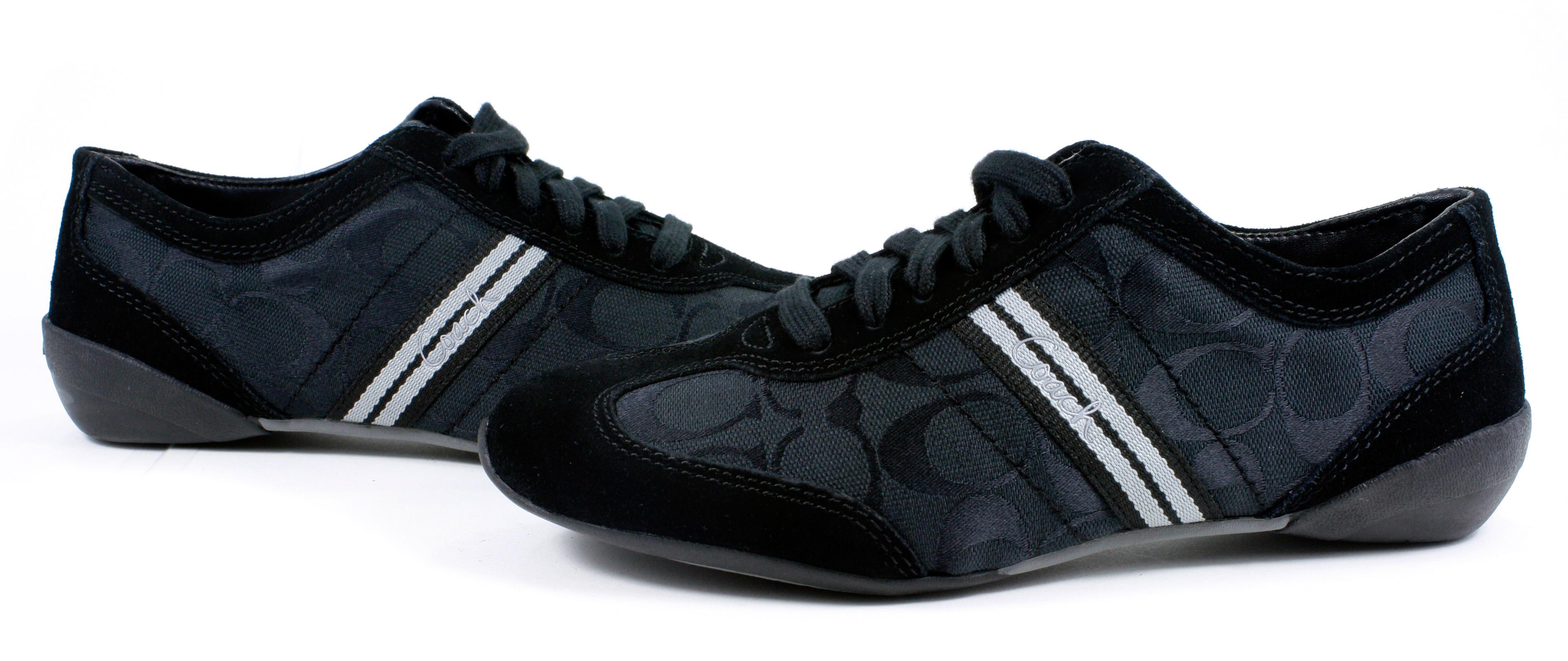 coach signature beyla 12cm black logo sneakers tennis