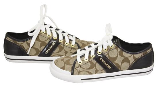 coach fillmore khaki chestnut op sneakers tennis shoes