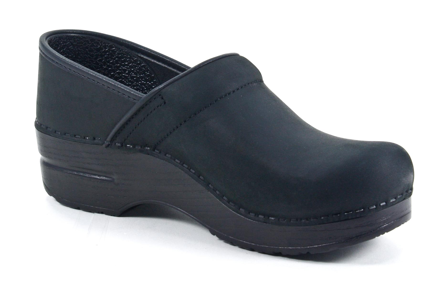 dansko professional black leather clog shoe eu 41 us