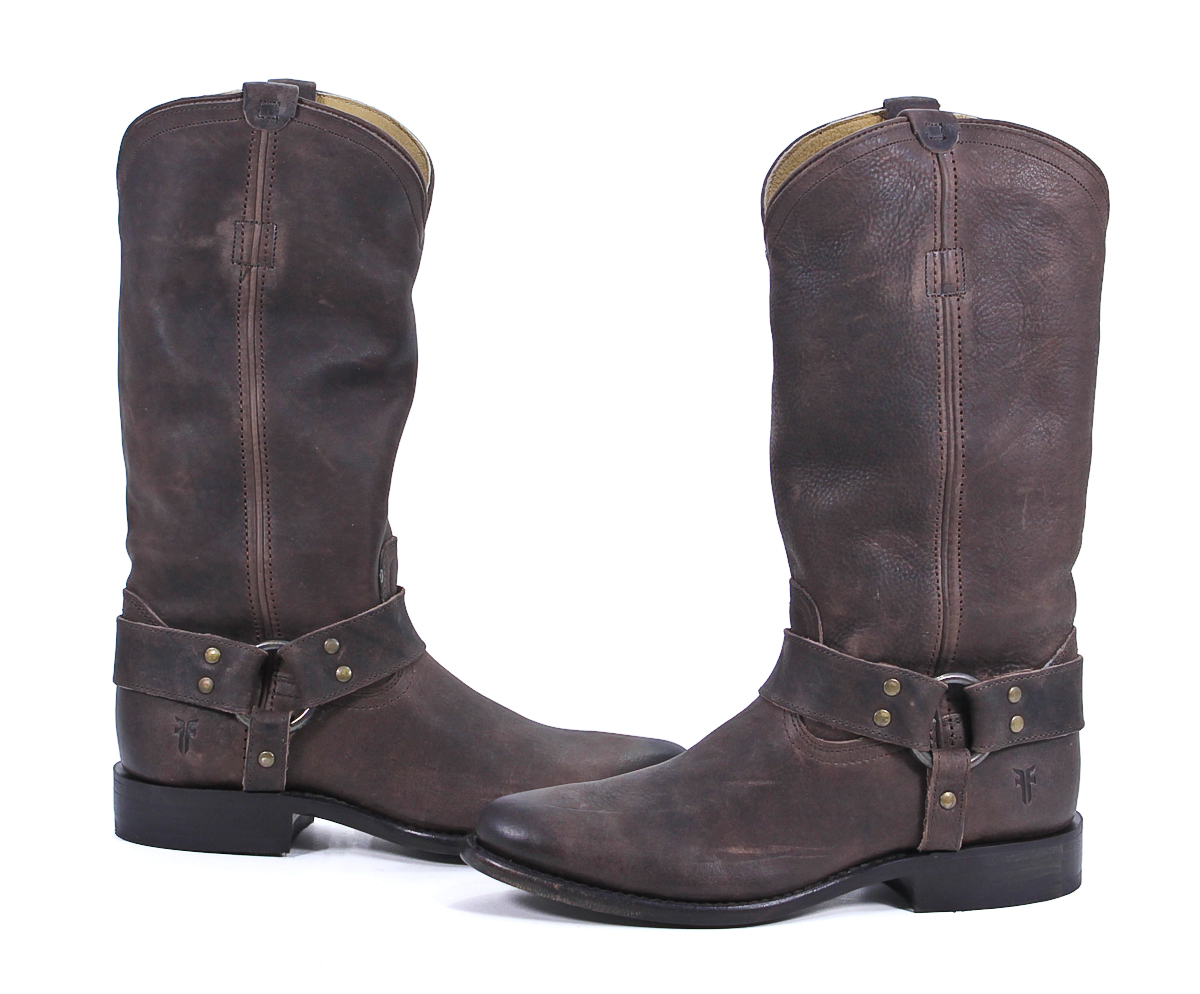 frye brown leather wyatt harness boots shoes 6 5 new