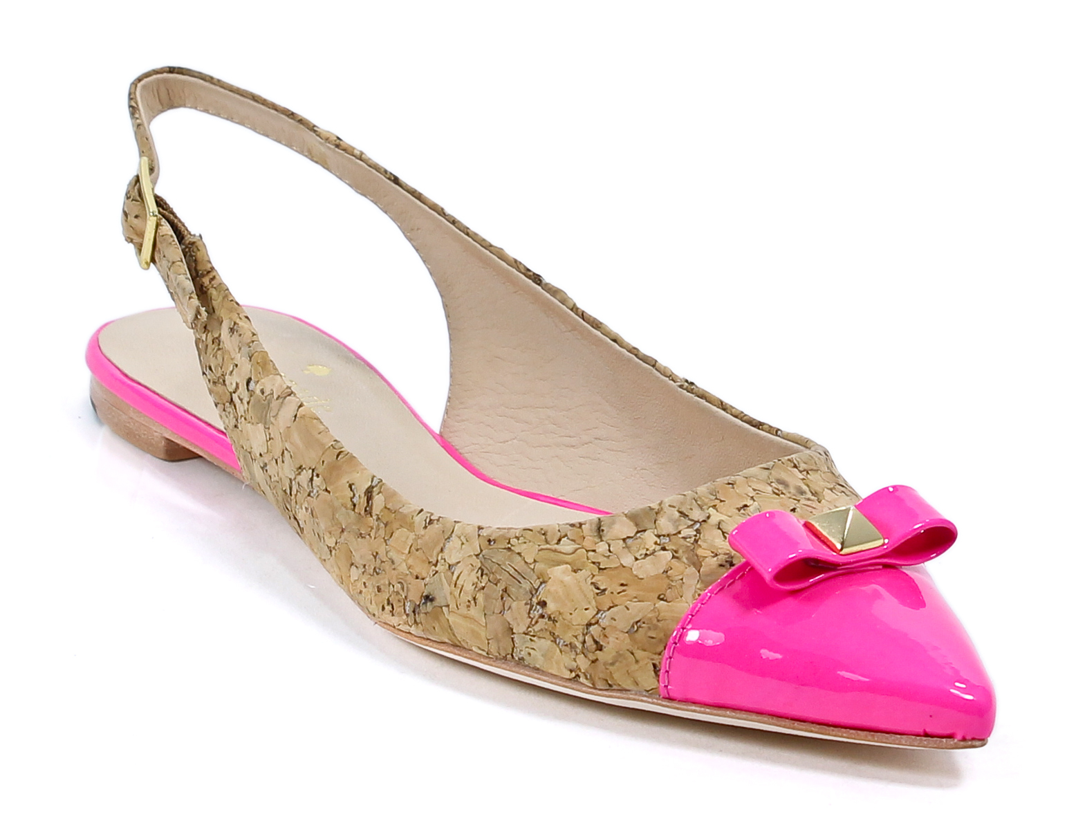 kate spade lipstick pink cork patent ginny sling