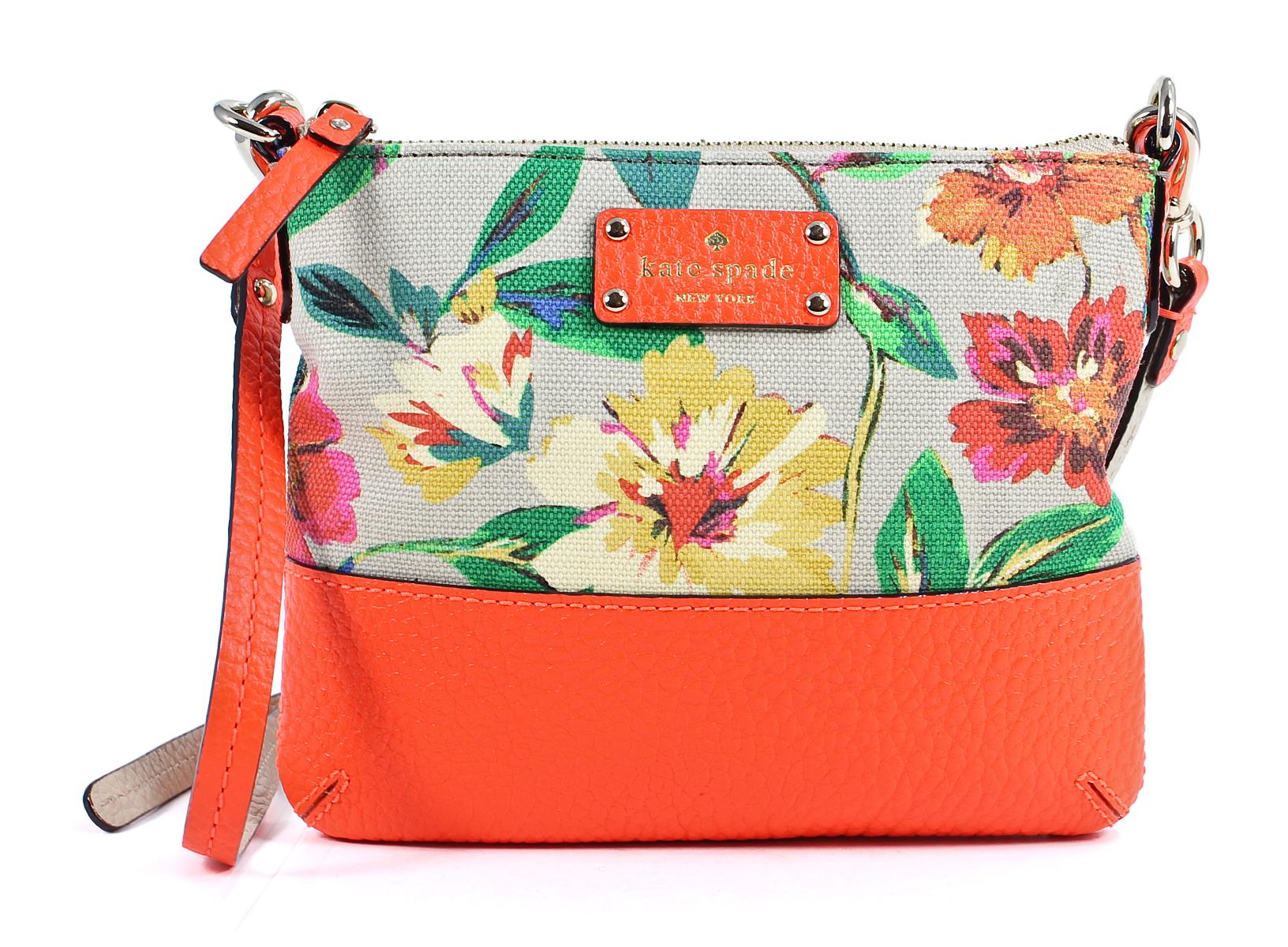 Kate Spade Leather Grove Court Floral Multi Tenley Crossbody Bag New | EBay