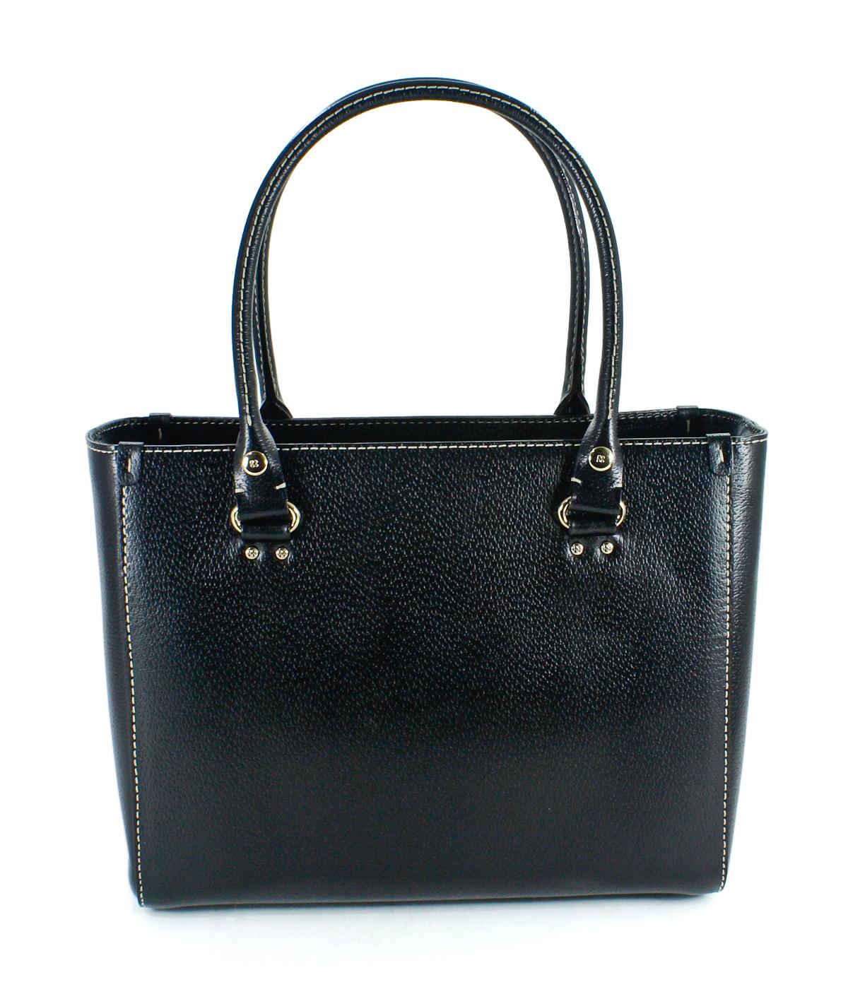 Kate Spade Quinn Wellesley Black Leather Handbag New