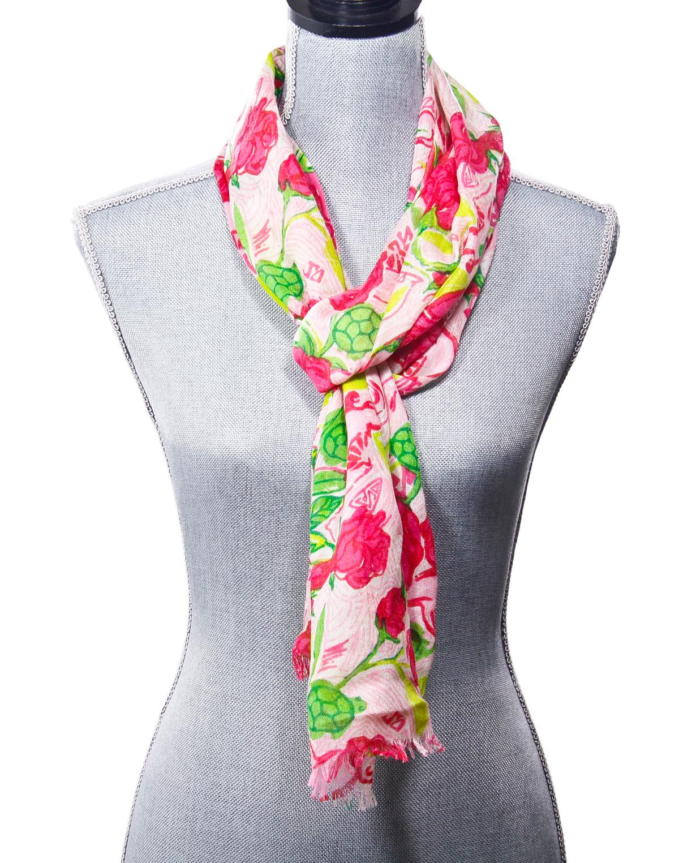 lilly pulitzer murfette scarf sorority print delta zeta
