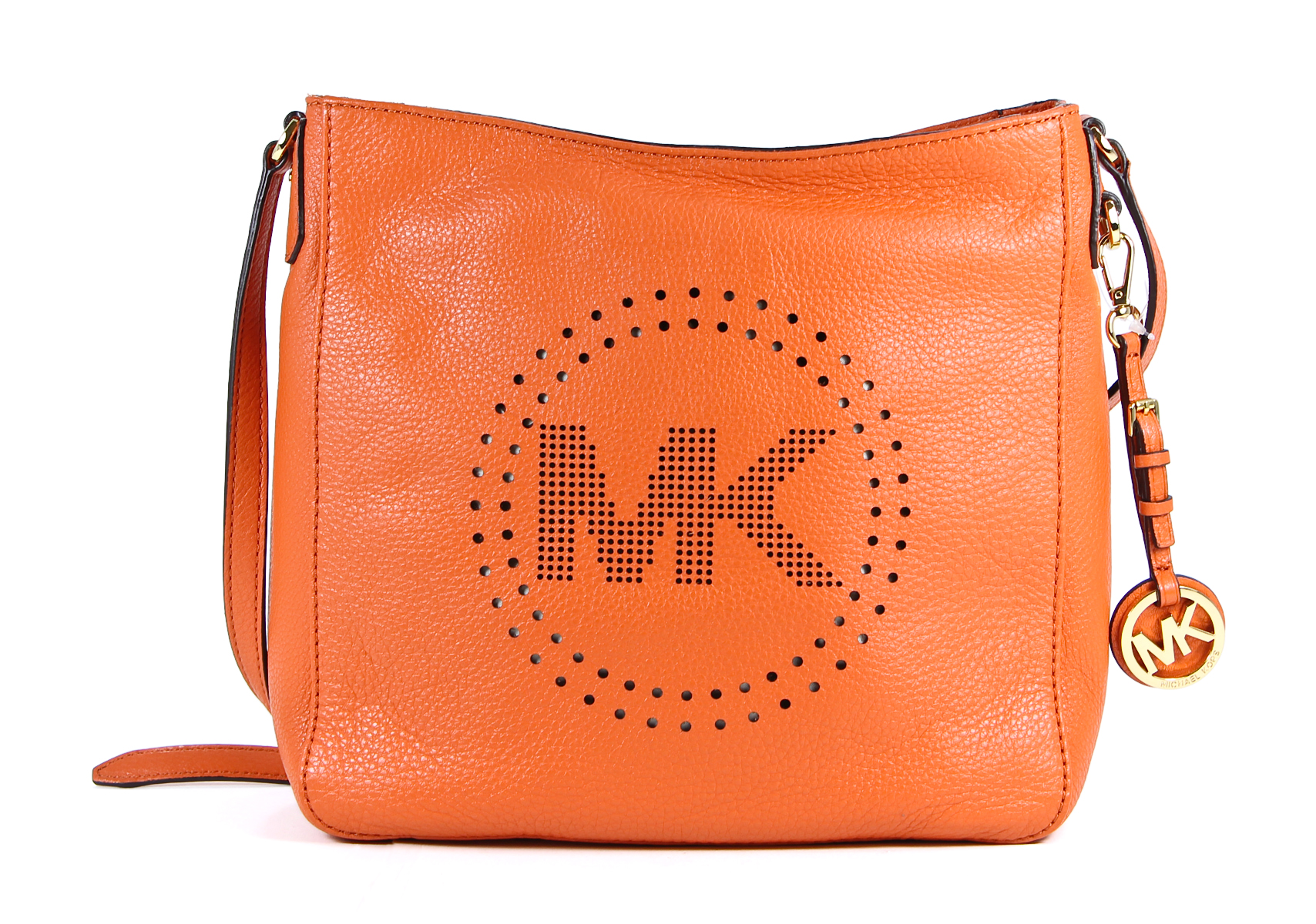 Michael Kors Perforated Leather Large Messenger Crossbody Bag 47