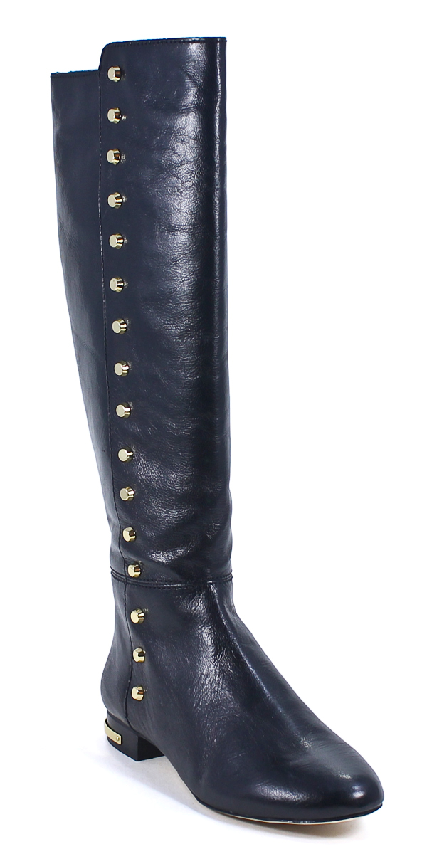 michael kors ailee flat boot black leather fashion knee