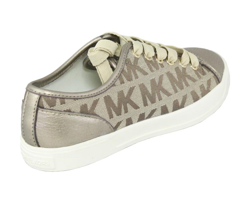 michael kors city sneaker logo jacquard tennis shoes