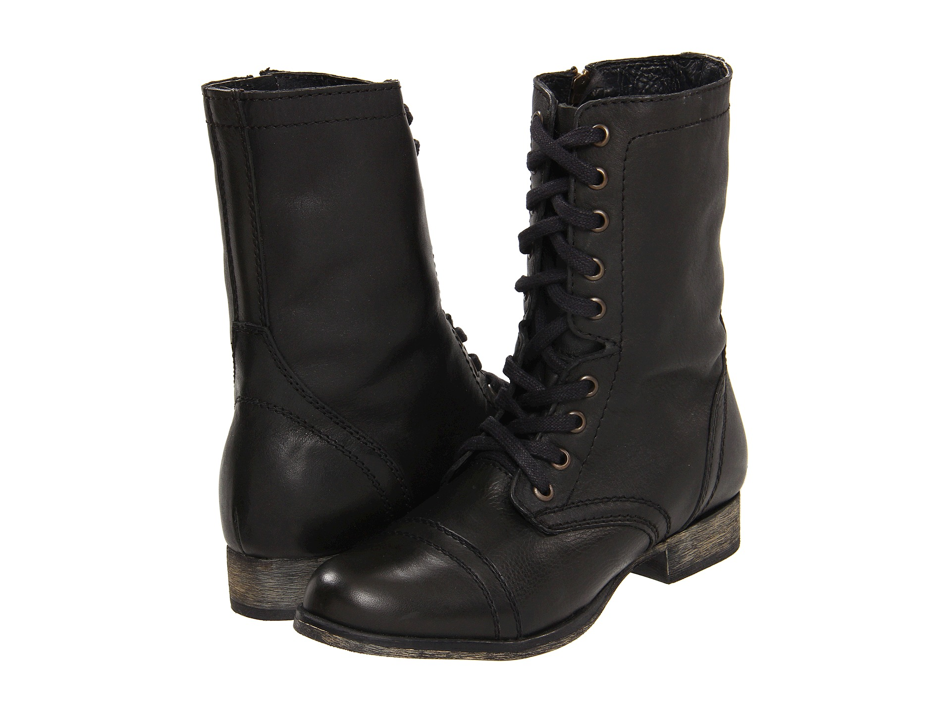 steve madden troopa black lace up military boots 8 new ebay. Black Bedroom Furniture Sets. Home Design Ideas