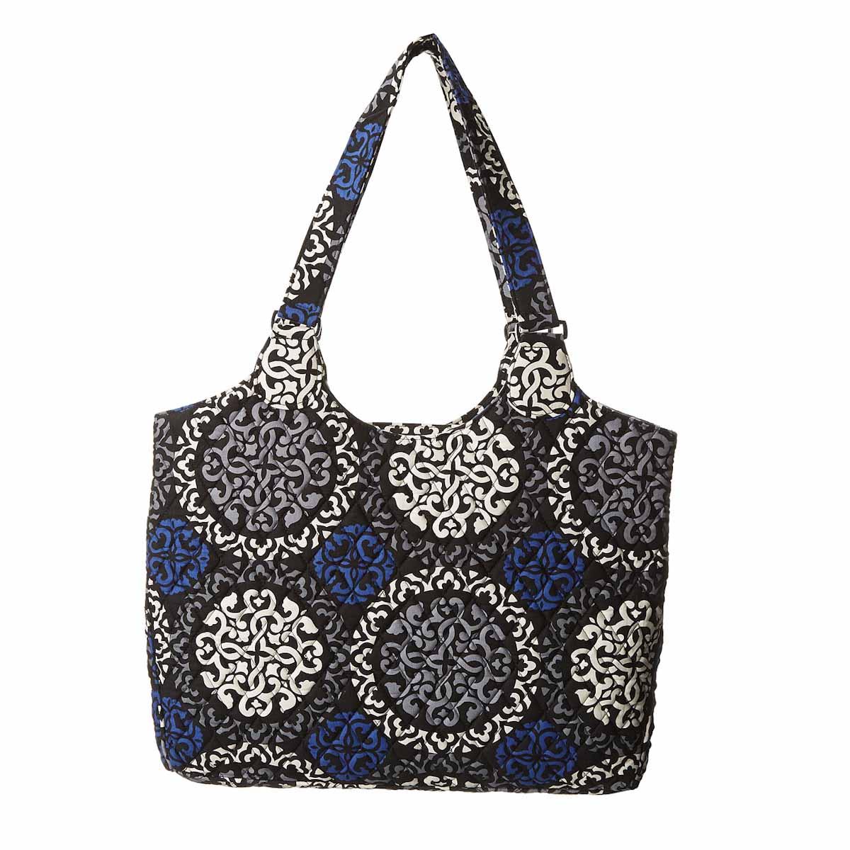 Vera Bradley Laptop Carryall Canterberry Cobalt Shoulder Bag Carrier