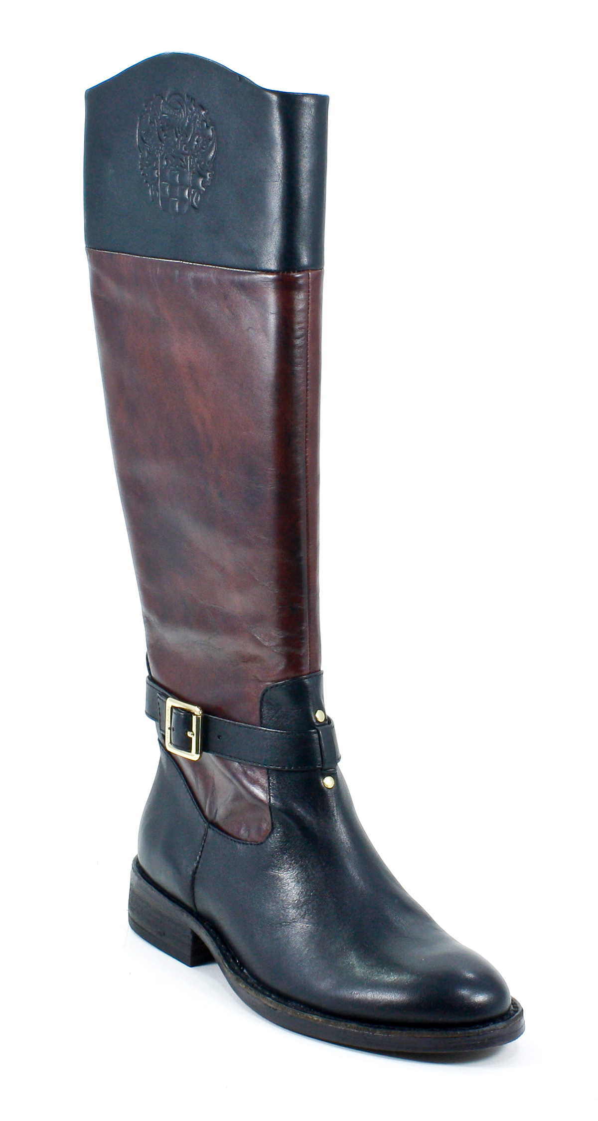 vince camuto flavian two tone wood black leather