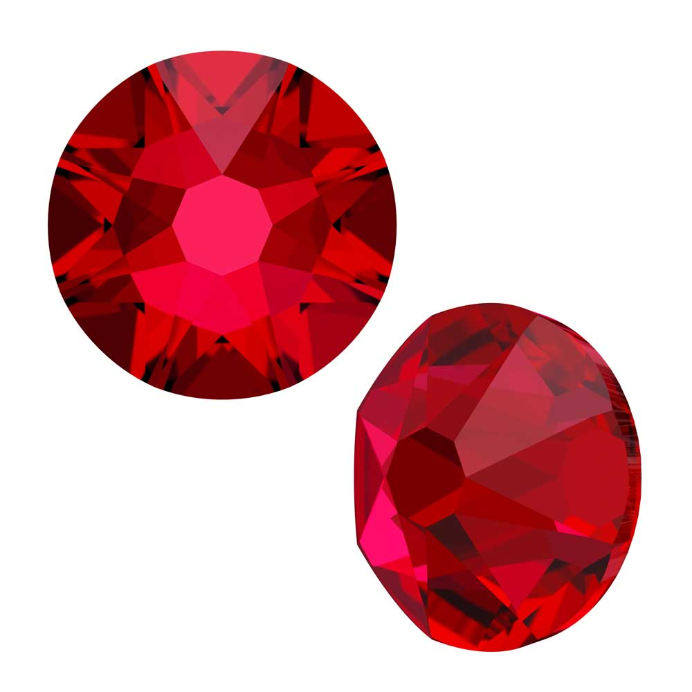 Swarovski Crystal, Round Flatback Rhinestone SS9 2.5mm, 72 Pieces, Scarlet