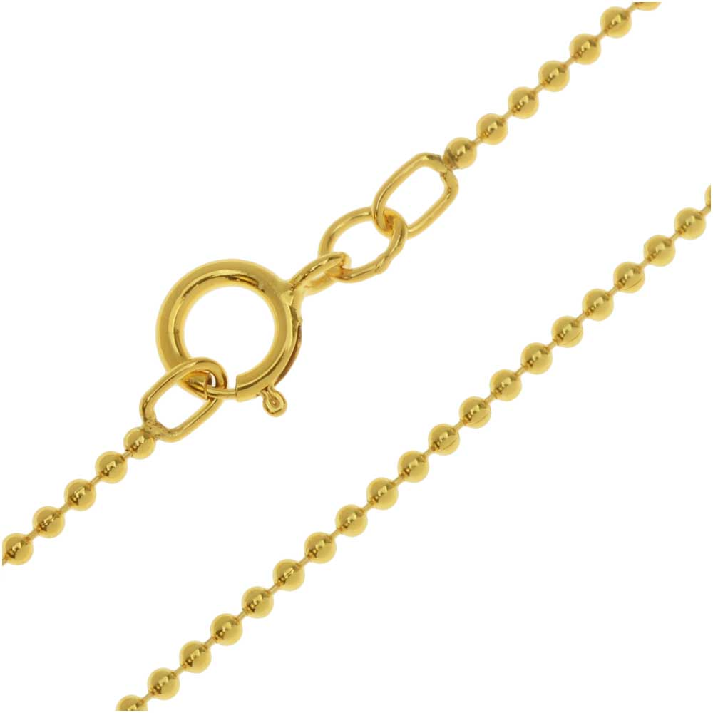 Final Sale - Finished Ball Chain Necklace, 1.2mm Links with Spring Ring Clasp, 18 Inches, 14K Gold Filled