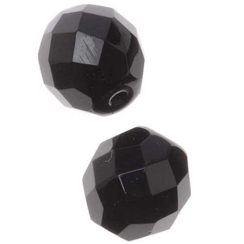 Czech Fire Polished Glass Beads 10mm Round