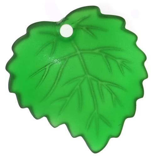 Lucite Aspen Leaves Matte Emerald Green Light Weight 16mm (4)