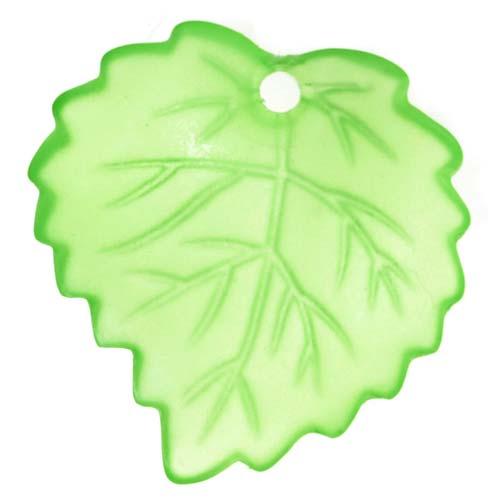 Lucite Aspen Leaves Matte Peridot Bright Green Light Weight 16mm (4)
