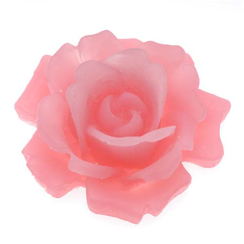 Lucite Cabochons 3-D Large Rose Flower Opaque Pink 34mm (1)