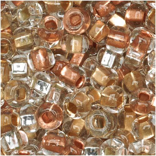 Czech Seed Beads 6/0 Mix ''Metallic'' Gold Silver Copper (1 Ounce)