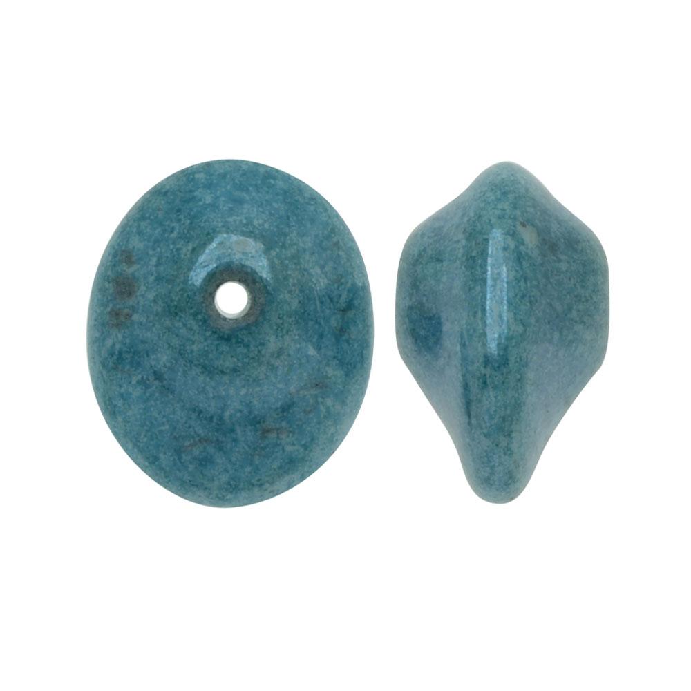 Czech Glass UFO Beads, Tapered Oval Shape 7x11mm, 20