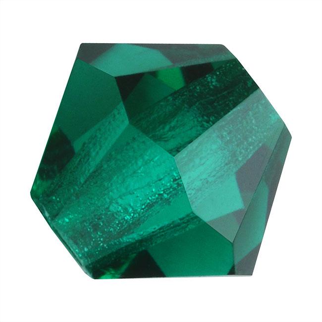 Preciosa Czech Crystal Beads 6mm Bicone 'Emerald' Green (20)
