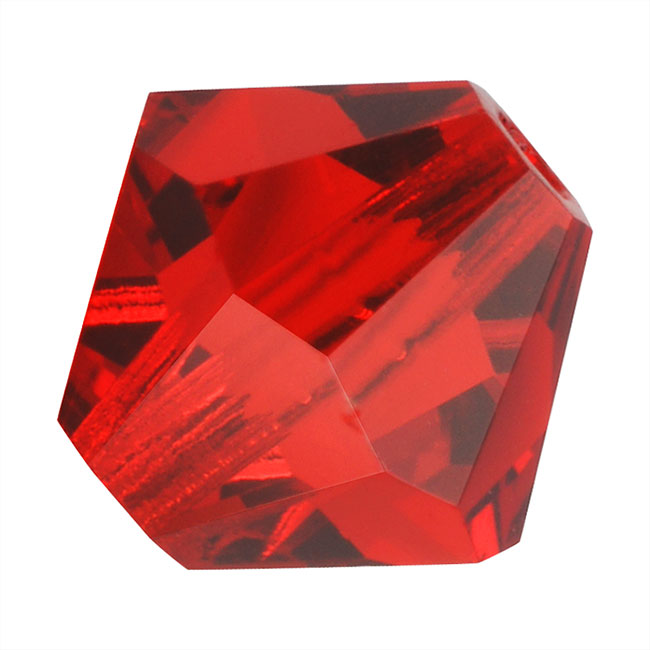 Preciosa Czech Crystal Beads 6mm Bicone Light Siam Red (20)