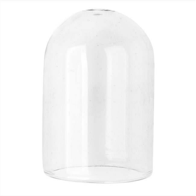Final Sale - Hollow Glass Dome for Jewelry, 24.5x36.5mm Pill Shape, 2 Pieces