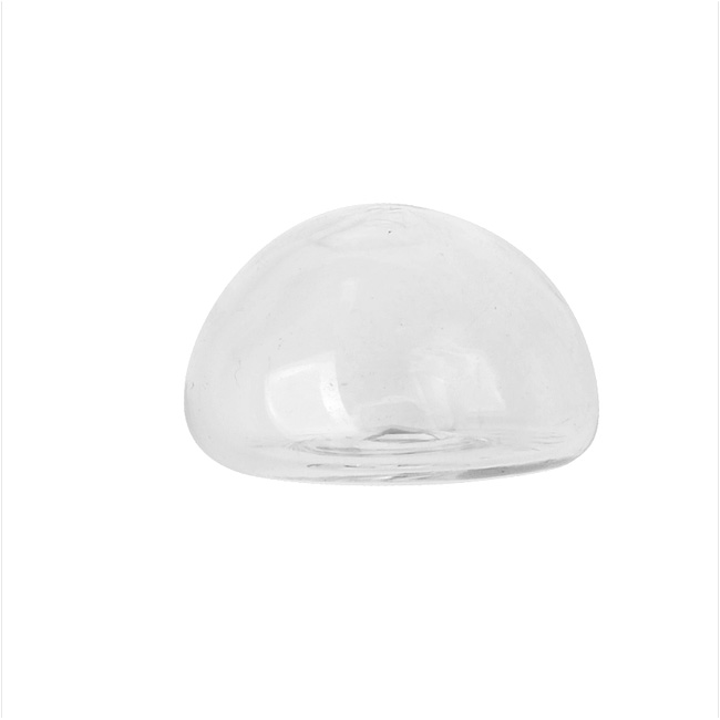 Final Sale - Hollow Glass Dome for Jewelry, 13.5x20.5mm Half Round Globe, 4 Pieces