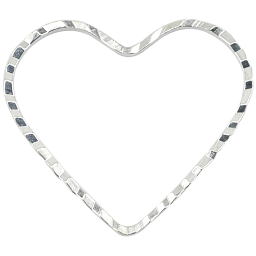 Beadalon Silver Plated Diamond Cut Quick Links 20mm Heart (14 Pcs)
