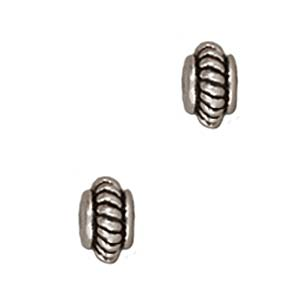 TierraCast Fine Silver Plated Pewter Coil Edge Spacer Beads 5mm (10)