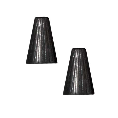 TierraCast Black Finish Pewter Etched Tall Cone Beads 12.5mm (2) at Sears.com