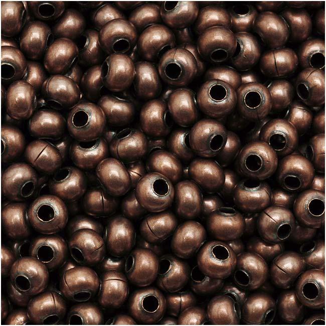 Genuine Metal Seed Beads 8/0 Antiqued Copper 38 Grams