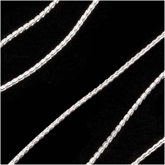 Sterling Silver Fine Snake Beading Chain, .7mm, by the Foot