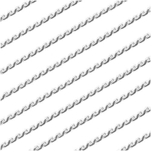 Silver Plated Fine Beading Chain, .7mm, by the Foot
