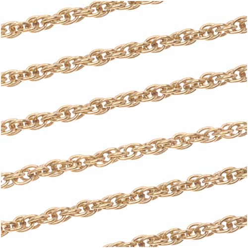 Beadaholique Antiqued 22K Gold Plated Twisted Rope Chain By The Foot