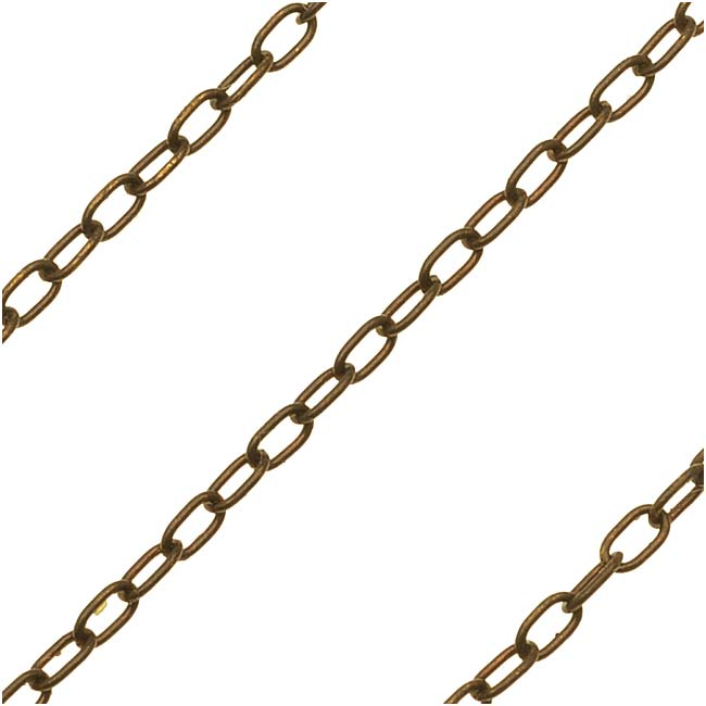 Vintaj Natural Brass Delicate Cable Chain, 3x2mm, by the Foot
